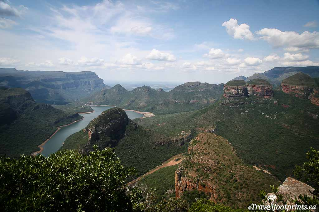 beautifu view of three rondevals in blyde river canyon