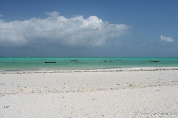 turquoise ocean water paje zanzibar
