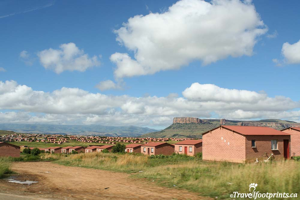government provided housing in lesotho africa