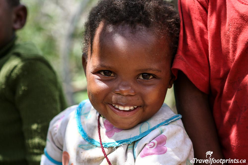 young lesotho girl with beautiful smile
