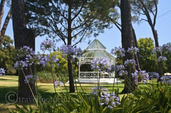 Boschendal-Grounds-Gazebo-Franschhoek-South-Africa-flowers-trees