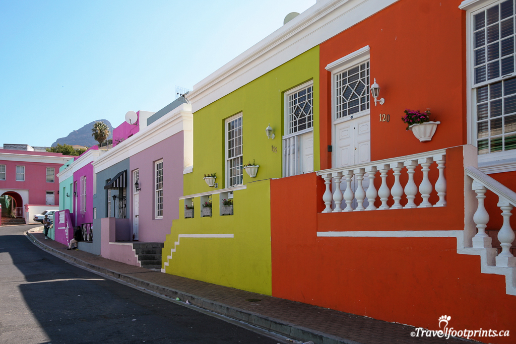 colorful houses in bo kaap cape town