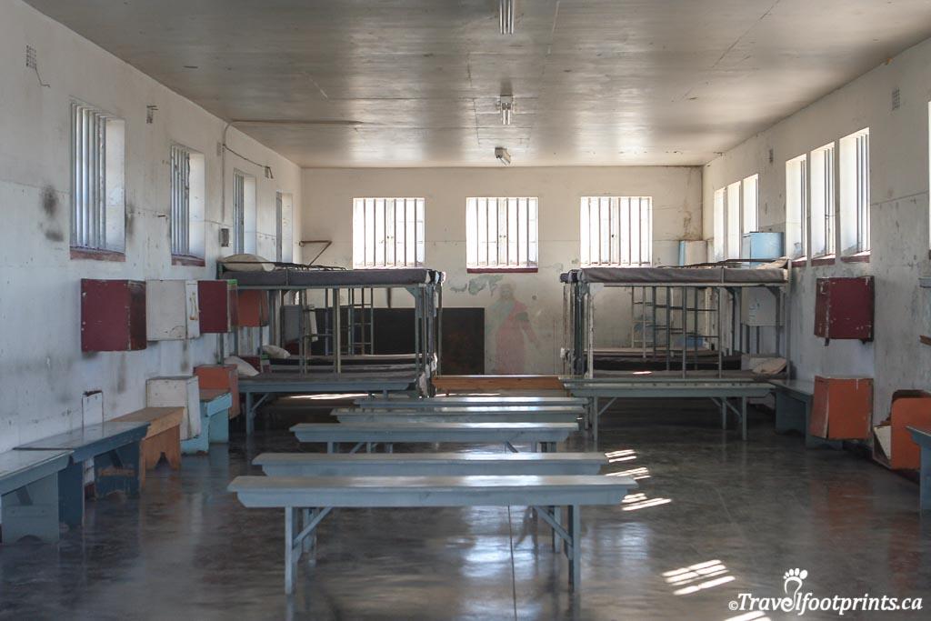 common prisoner area at robben island