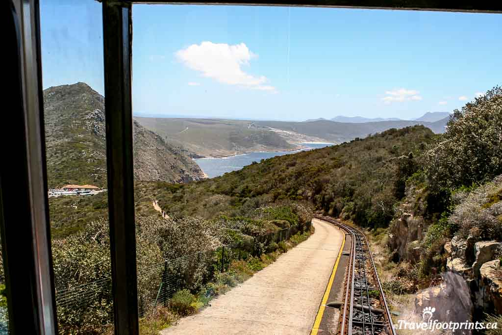 funicular going up to the viewpoint at the cape of good hope