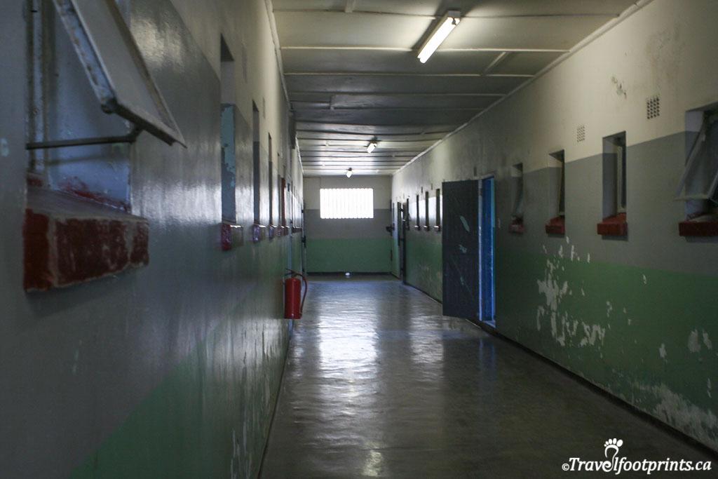 hallway at robben island prison