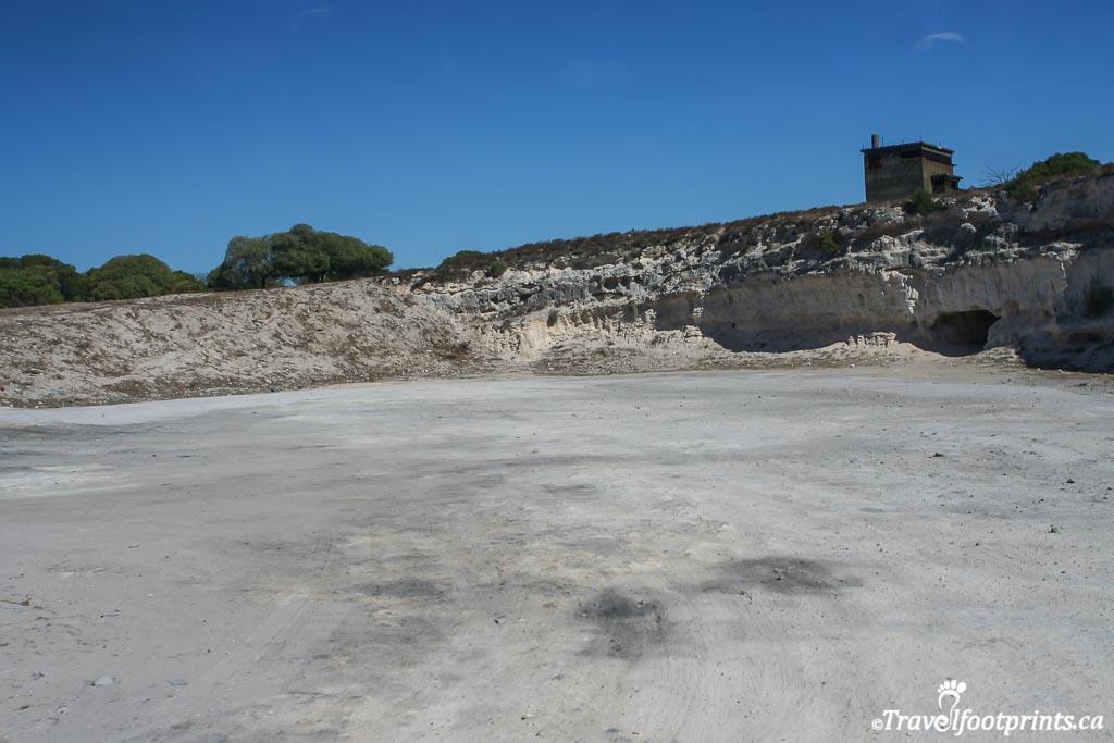 prisoner worker area at robben island