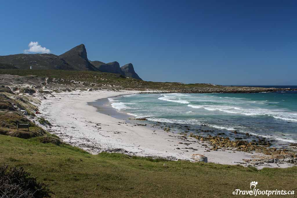 sandy beaches and mountains at cape of good hope