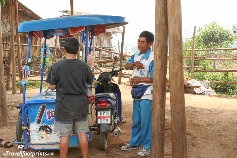 the icecream man at the elephant nature park