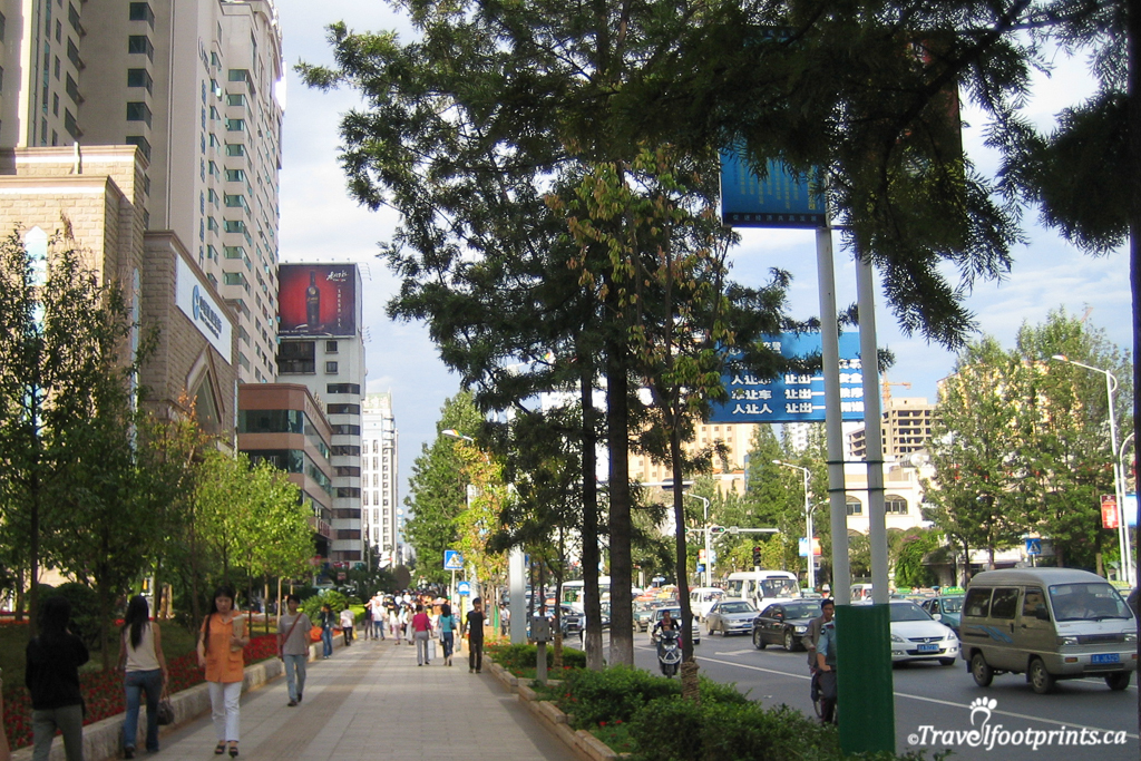 downtown shopping area of kunming china