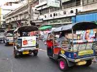Bangkok Tuk Tuks And Taxis