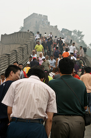 Badaling Great Wall, Lot's Of Smog, Lots Of People