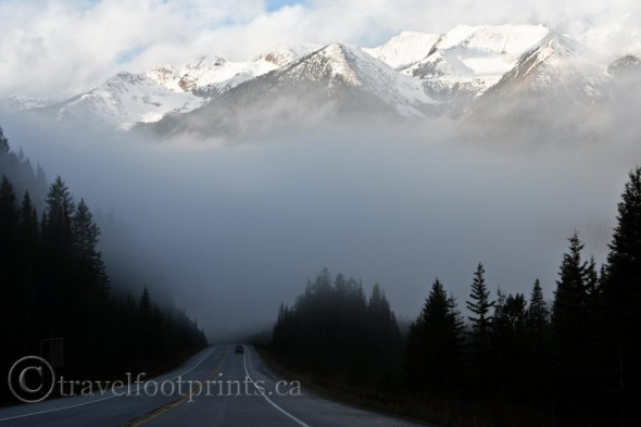 moving-lake-louise-mountain-mist-fog-highway