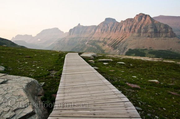 wooden-boardwalk-hidden-lake-hike-glacier-national-park-montana