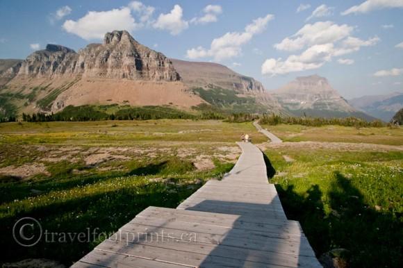 wooden-boardwalk-hidden-lake-trail-glacier-national-park-montana
