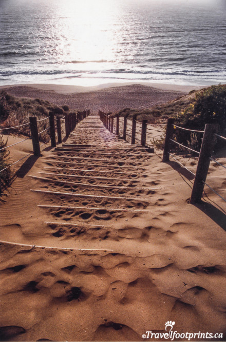 Stairs leading to Baker Beach Sanfrancisco