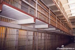 Alcatraz tour of jail cell blocks