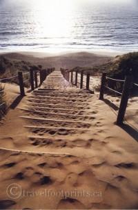 sand-staircase-baker-beach-san-francisco-sunset