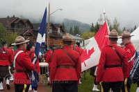 Canmore-highland-games-mounties-canada flag