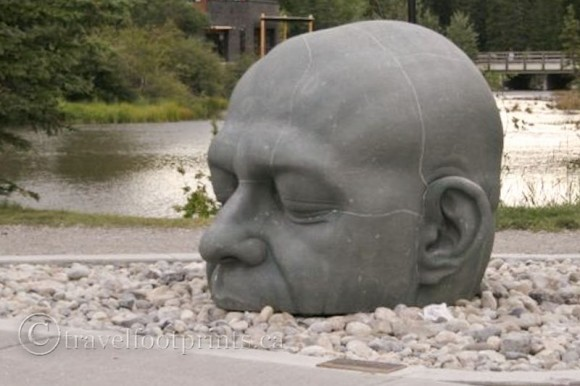 Canmore-big-head-sculpture