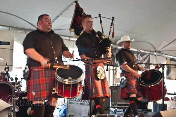 Canmore-highland-games-scottish-band-drums-bagpipe