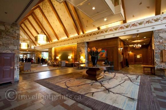 fairmont-chateau-whistler-hotel-grand-lobby-carpet-flower-vase