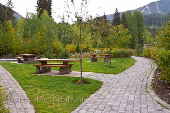 whistler-village-picnic-table-area-walkway-trails