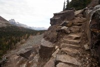 lake-ohara-hiking-trail-steep-steps-Lake-McArthur