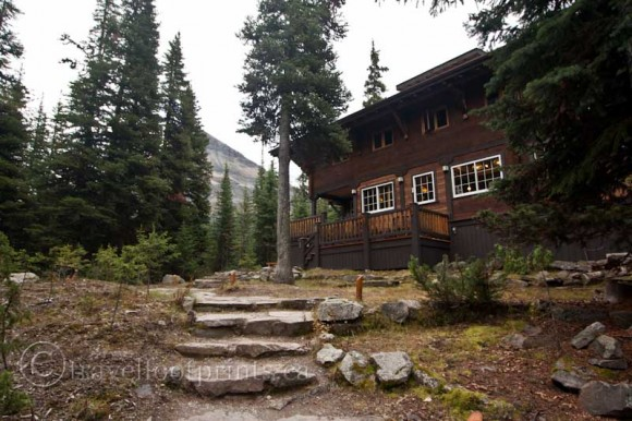 lake-ohara-lodge-stone-steps-trees-mountain