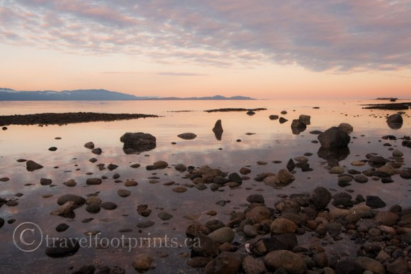 hornby-island-whaling-station-bay-beautiful-sunset-rocks-reflection-water