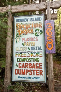 hornby-island-recycling-depot-sign