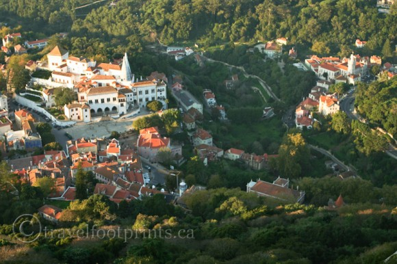national-palace-sintra-view-from-above-green-trees-hillside-portugal