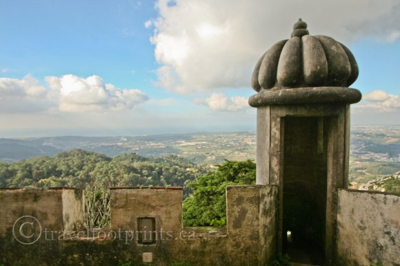 view-from-pena-palace-sintra-town-countryside-castle-turret-portugal