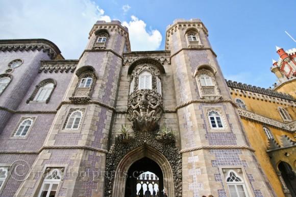 pena-palace-castle-sintra-portugal-gargoyle-towers