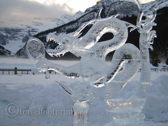 lake-louise-ice-magic-festival-dragon-sculpture-glacier-view