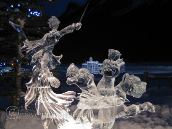 lake-louise-ice-magic-festival-night-light-dragon-heads-sculpture