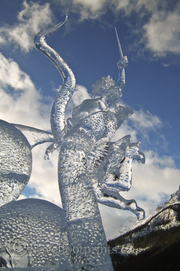 lake-louise-ice-magic-festival-sculpture-blue-sky