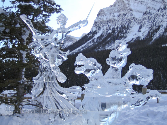 lake-louise-ice-magic-festival-ice-sculpture-sword-dragon-heads