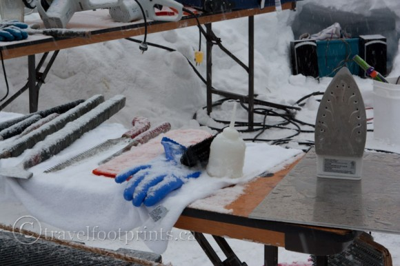 lake-louise-ice-magic-festival-carvers-tools-iron-gloves