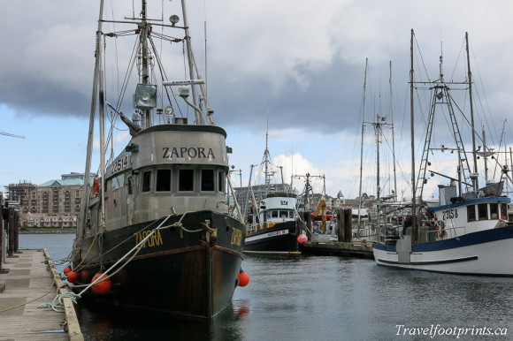 boats at fishermans wharf victoria bc
