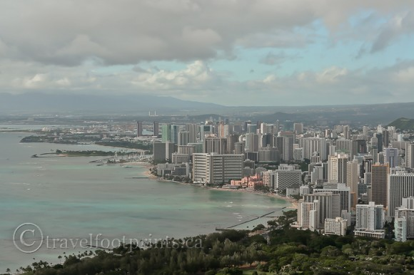 waikiki-sky-scrapers-view-diamond-head-oahu-hiking-trail