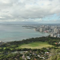 waikiki view from diamond head summit
