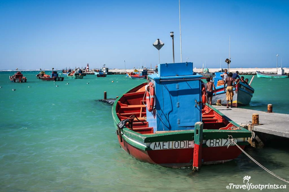 colorful fishing boats near cape agalhaus_