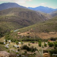 farm village along n339 prince alfred pass western cape south africa
