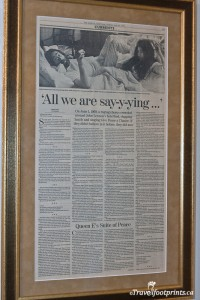 newspaper article about john lennon and yoko onos bed in in montreal
