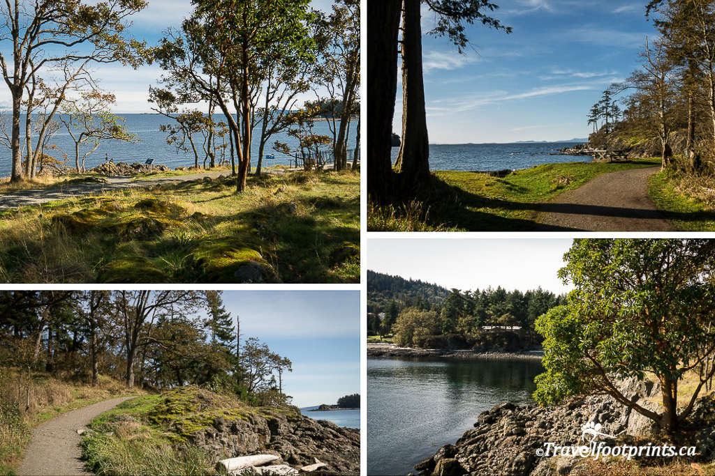 shoreline trails at neck point park nanaimo
